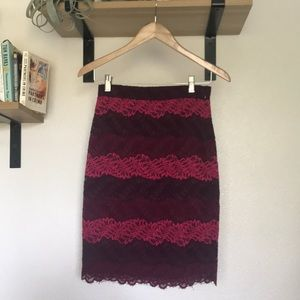 Banana Republic | Lace Pencil Skirt